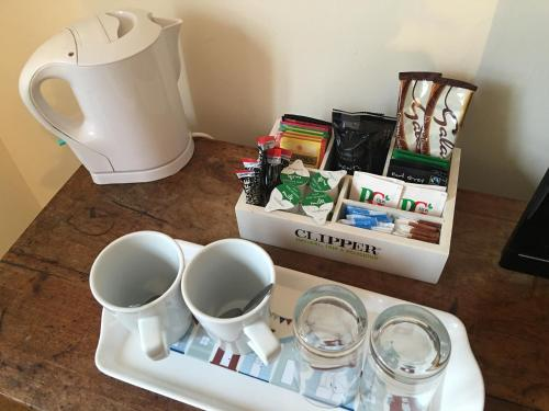 Coffee and tea-making facilities at The Pilot Boat Inn, Isle of Wight