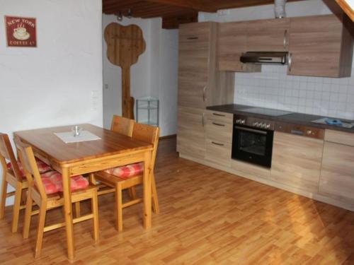 Küche/Küchenzeile in der Unterkunft Äckerhof