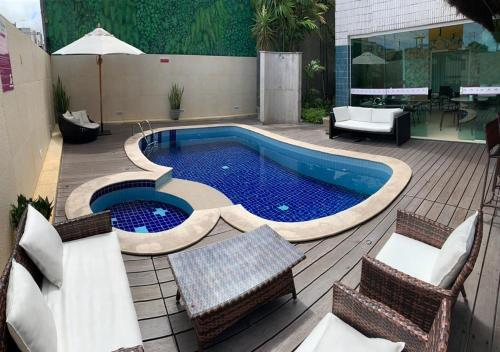 The swimming pool at or close to Hotel Anahí