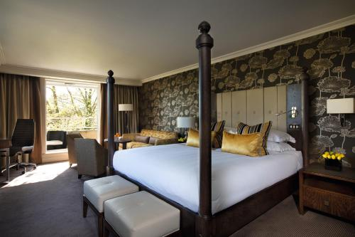 A bed or beds in a room at Sopwell House Hotel