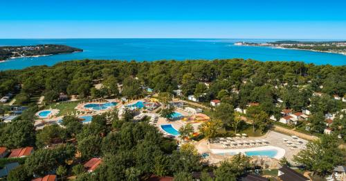 A bird's-eye view of Lanterna Premium Camping Resort by Valamar