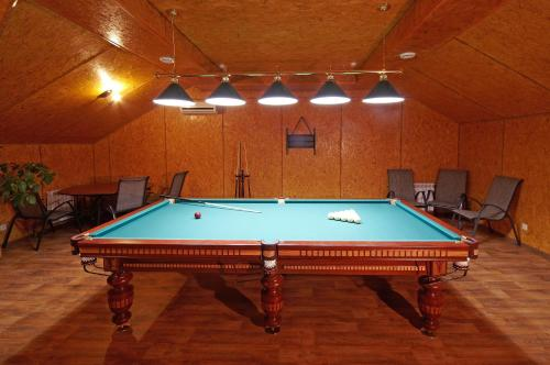 A pool table at Hotel Uyut