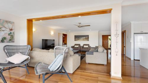 A seating area at 6 Seaview Street Forster- Melissa Jane