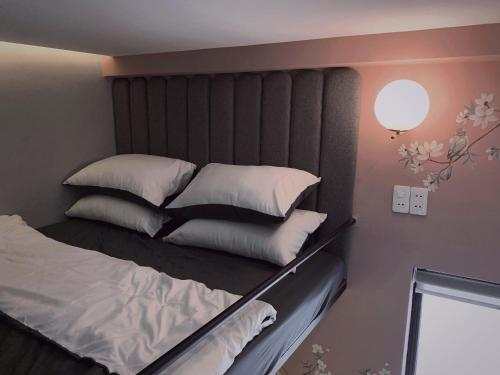 A bed or beds in a room at Aluny