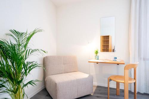 Ein Sitzbereich in der Unterkunft Hotel & Restaurant Sonne