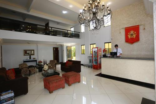 The lobby or reception area at Havana Palace Hotel