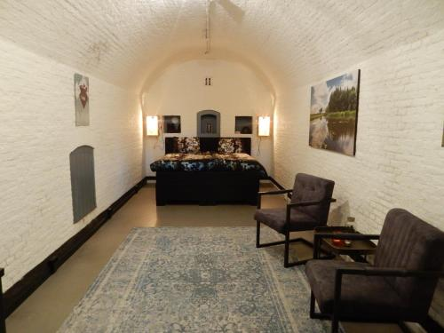 De lobby of receptie bij Bed & Breakfast Fort Bakkerskil