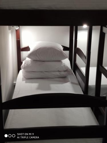 A bed or beds in a room at Hostel LEON Kiev
