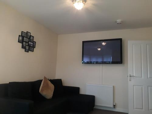 A television and/or entertainment center at Crystal Apartments