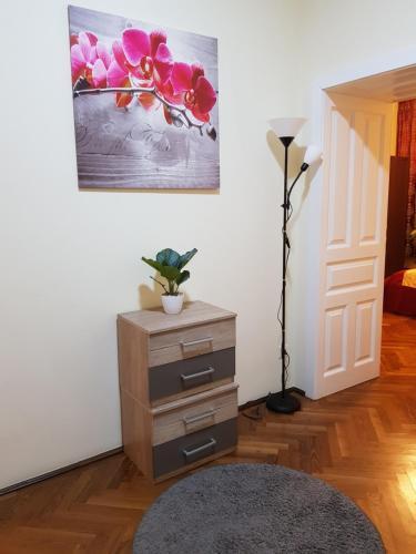 TV a/nebo společenská místnost v ubytování Apartments Vienna