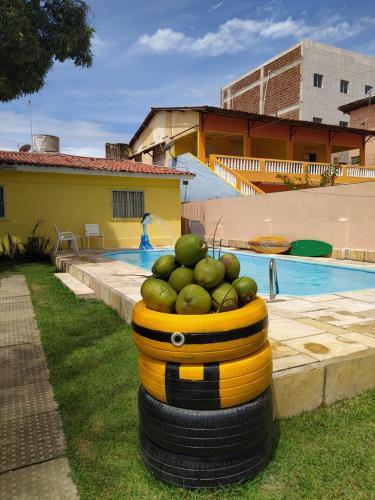 The swimming pool at or close to Villa Beach Hostel e Pousada