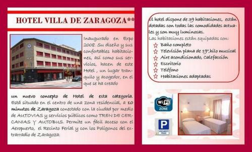 Plano de Hotel Villa de Zaragoza