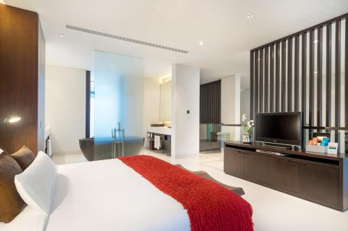 A television and/or entertainment centre at Twinpalms Phuket