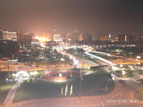 Uma vista aérea de Apartment on Nariman Narimanov 125