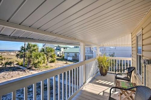 A balcony or terrace at Old School Fernandina Beach Duplex with Ocean View!