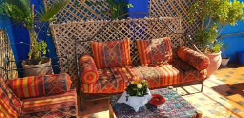 A seating area at Riad Konouz
