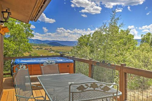 A balcony or terrace at Private Steamboat Springs Home w/Hot Tub+Mtn Views