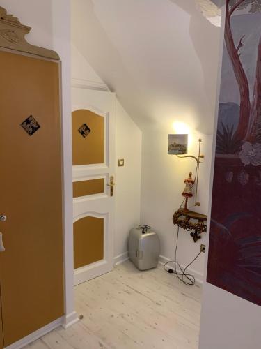 Salle de bains dans l'établissement Le Moulin du Bois