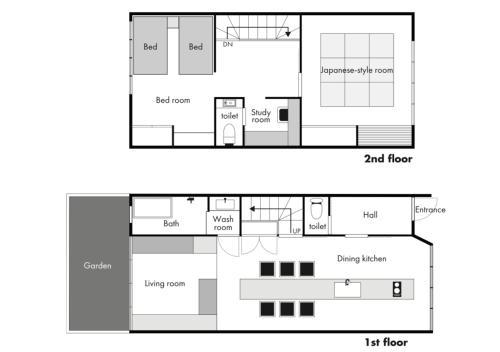 Machiya House SOWAKAの見取り図または間取り図