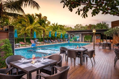 The swimming pool at or near River Front Krabi Hotel
