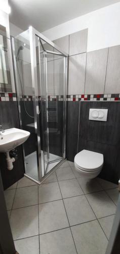 Koupelna v ubytování Chata Betyna