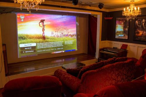 A television and/or entertainment center at Chiltern Inn