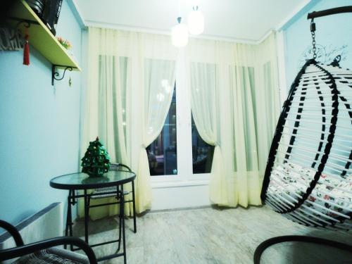 Гостиная зона в Romantic Apartment in a Vibrant Metropolis