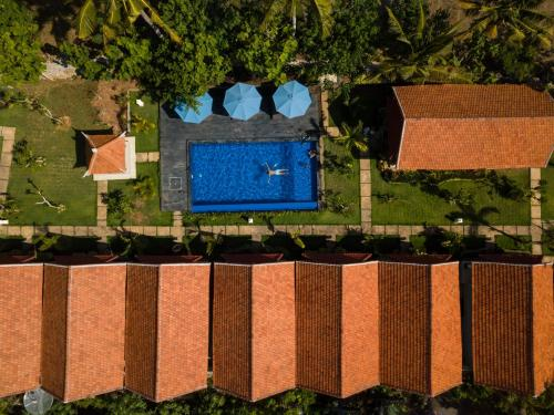 A bird's-eye view of Sawit Garden Cottages