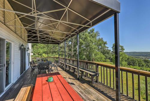A balcony or terrace at Lovely Finger Lakes Home with Lake Views and Deck!
