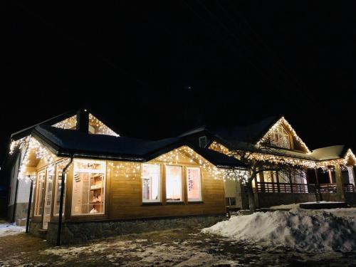 Cottage Familiya during the winter