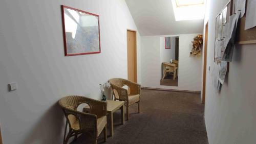 Posezení v ubytování Penzion U Hradeb
