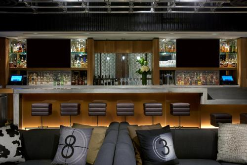 The lounge or bar area at Kimpton Hotel Palomar Los Angeles Beverly Hills