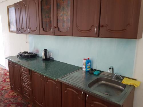 A kitchen or kitchenette at Arbuz Guest House
