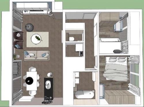 The floor plan of WESTMINSTER - Free Parking
