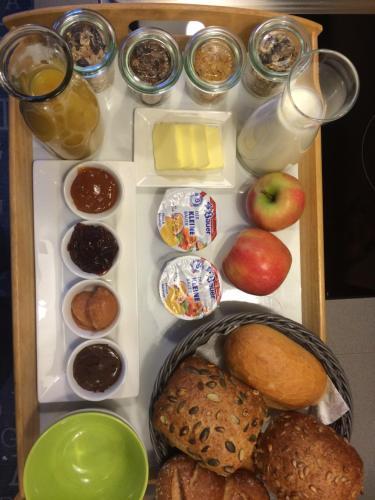 Frühstücksoptionen für Gäste der Unterkunft Anno 1609