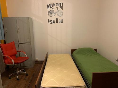 Cama o camas de una habitación en Student's Hostel