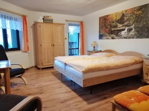 Postel nebo postele na pokoji v ubytování Penzion Nadějov