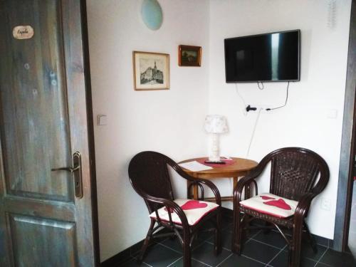 TV a/nebo společenská místnost v ubytování Domácí ubytování Kaňk
