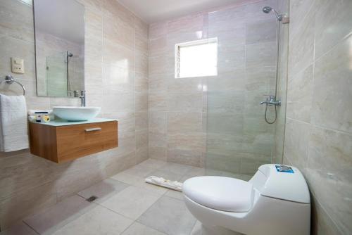 Ein Badezimmer in der Unterkunft Hotel Real Bella Vista