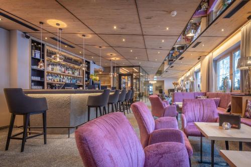The lounge or bar area at Der Rindererhof