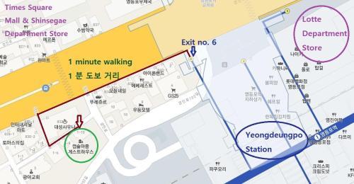 The floor plan of Capsule Hotel M Seoul