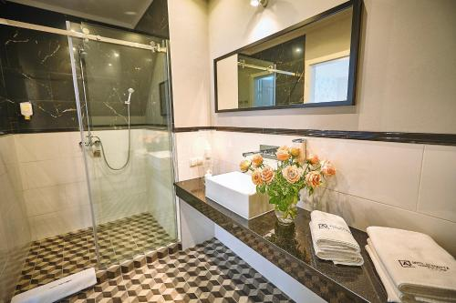 Łazienka w obiekcie Hotel Afrodyta Business & Spa