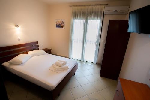 Krevet ili kreveti u jedinici u okviru objekta Malamatenia House