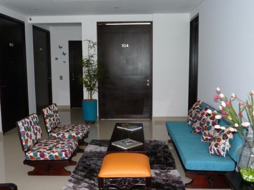 Zona de estar de Hotel Boutique Laverdieri