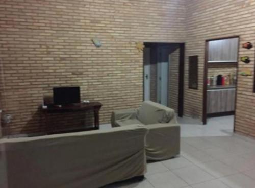 The lobby or reception area at Casa Praia do Niquin Barra de São Miguel