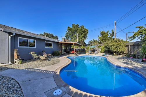 The swimming pool at or near Updated Sacramento Home with Grill, Patio, and Pool!