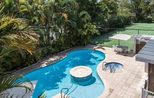 A view of the pool at Noosa Pacific Resort or nearby