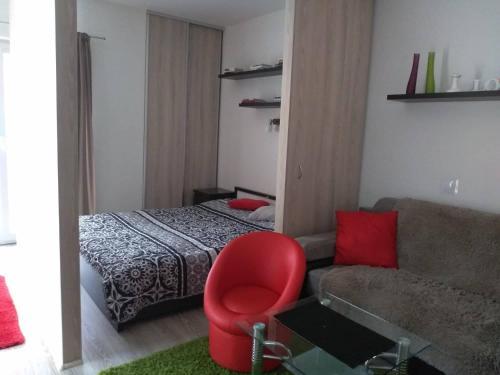 Postel nebo postele na pokoji v ubytování Apartmán Mery