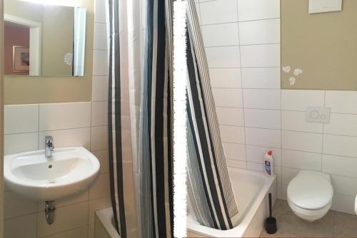 Ein Badezimmer in der Unterkunft Jachabauer