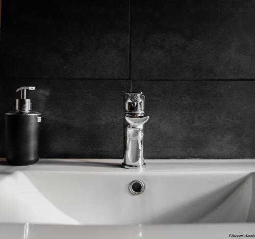 A bathroom at Gîte de l'Olivier